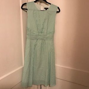 NWT J Crew Green and White Seersucker Dress